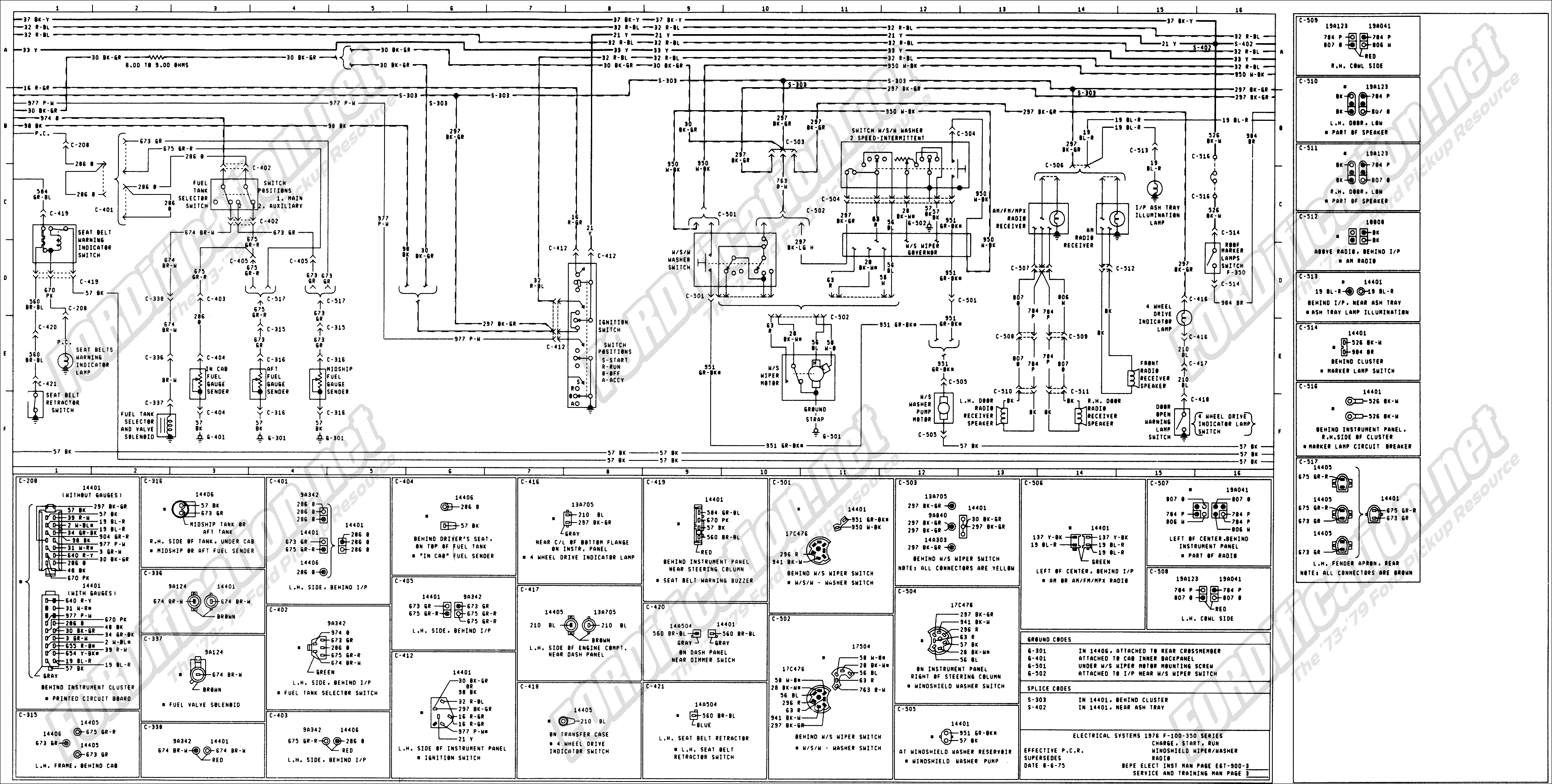 1973-1979 Ford Truck Wiring Diagrams & Schematics - Fordification - 02 F350 Trailer Wiring Diagram