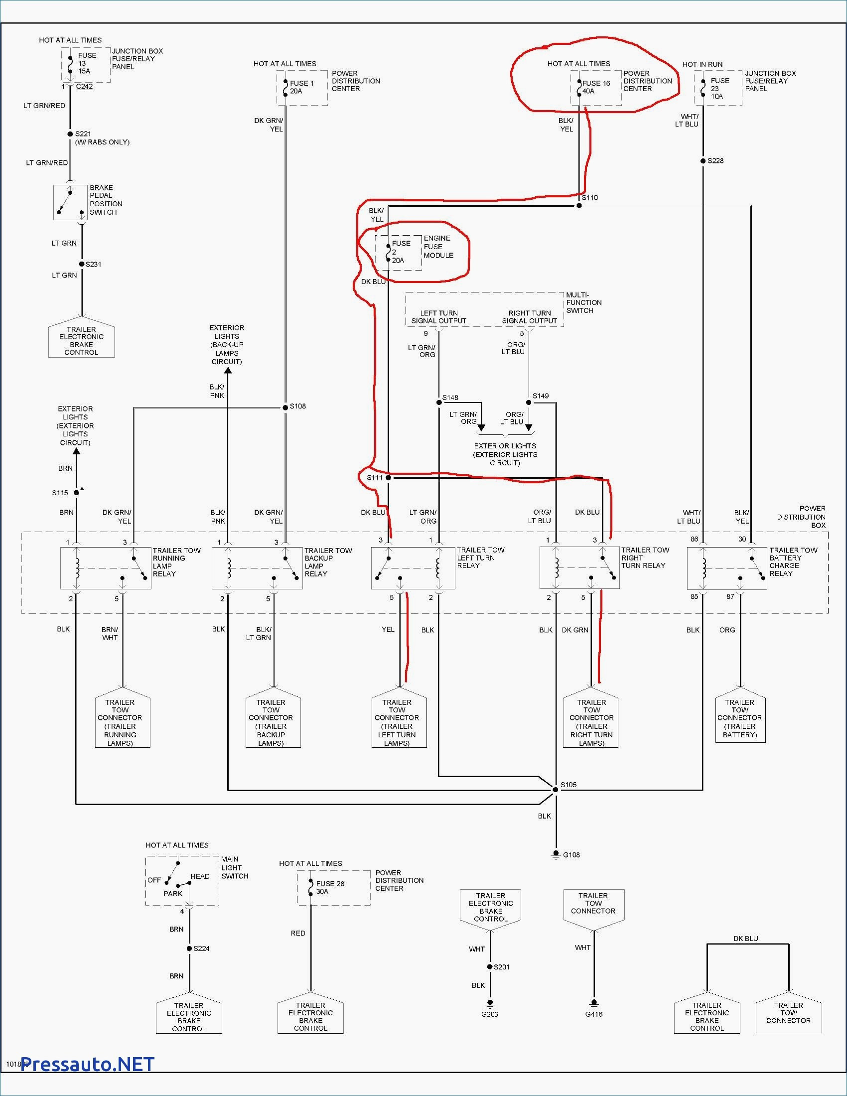 1997 Ford F150 Trailer Wiring Diagram - Shahsramblings - Ford F250 Trailer Wiring Diagram