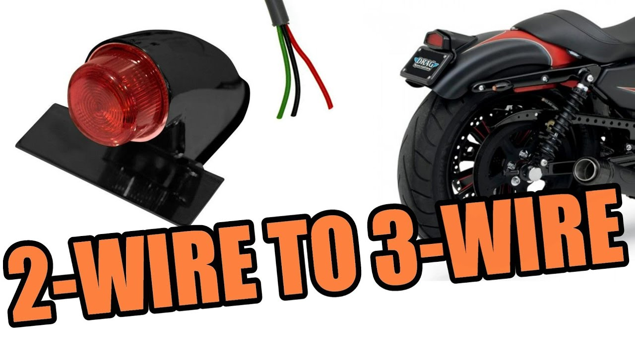 2 Wire Tailight To 3 Wire Motorcycle - Hd Sportster - Youtube - 3 Wire Trailer Breakaway Switch Wiring Diagram