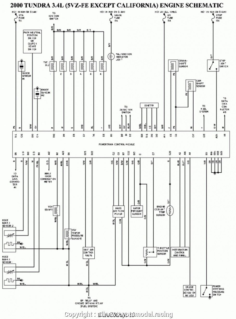 2000 Toyota Tundra Wiring Diagrams | Wiring Library - 2000 Toyota Tundra Trailer Wiring Diagram