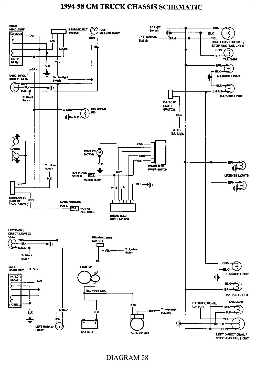 2002 Chevy Silverado Light Wiring Diagram