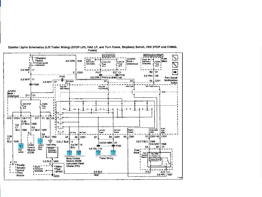 Trailer Wiring Diagram For 2001 Chevy Silverado