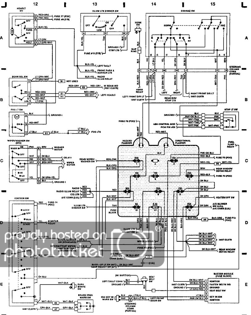 2001 Jeep Wrangler Trailer Wiring - Wiring Diagram Detailed - Jeep Yj Trailer Wiring Diagram