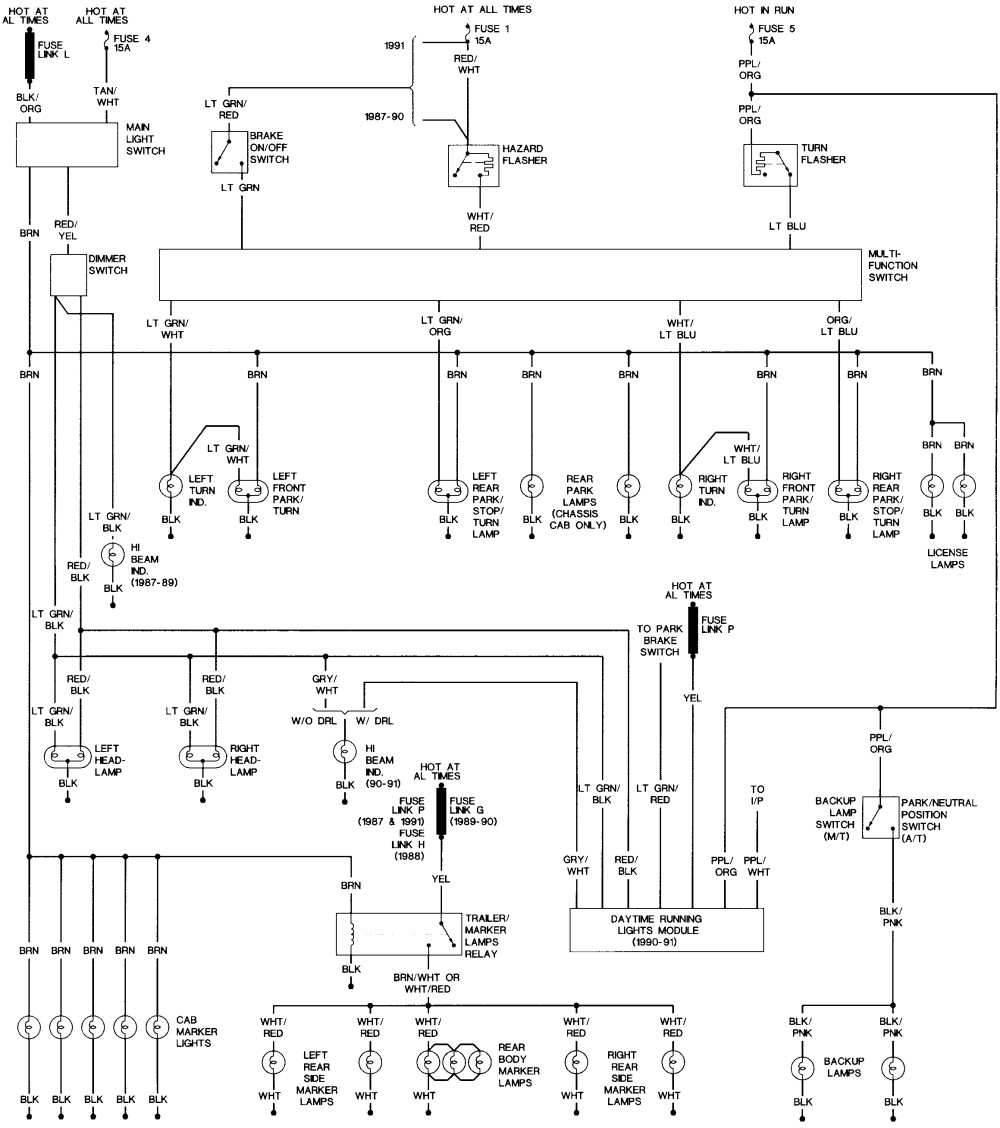 91 Ford F150 Wiring Diagram | Control Cables & Wiring Diagram  Flat Trailer Wiring Diagram F on