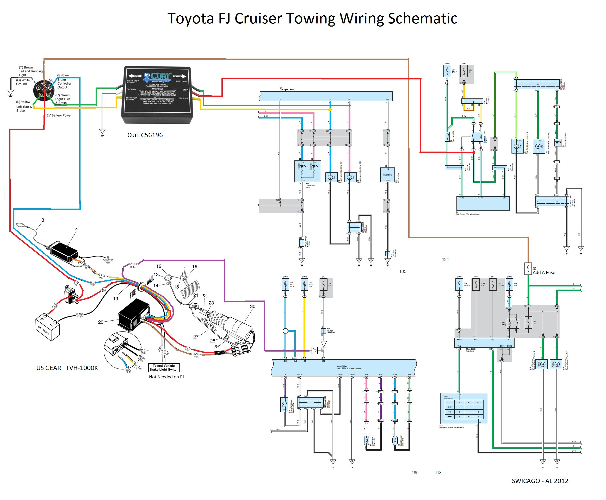 2013 Toyota Tundra Brake Controller Wiring Diagram 2018 Toyota - Trailer Wiring Diagram Running Lights