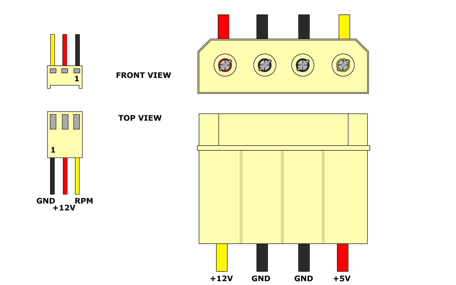 4 Pin Power Connector Wiring Diagram - All Wiring Diagram Data - 3 Pin Trailer Wiring Diagram