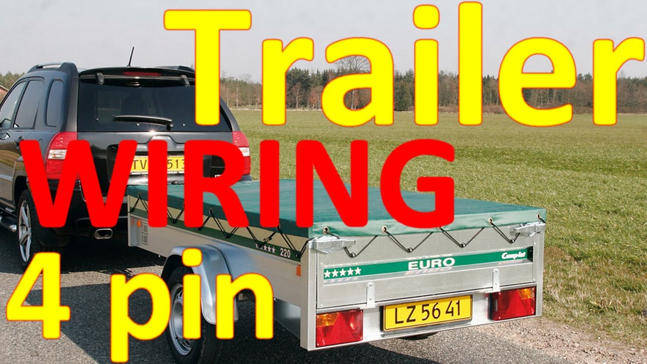 4 Pin Trailer Wiring Diagram - Data Wiring Diagram Schematic - Trailer Wiring Diagram 4 Pin Round