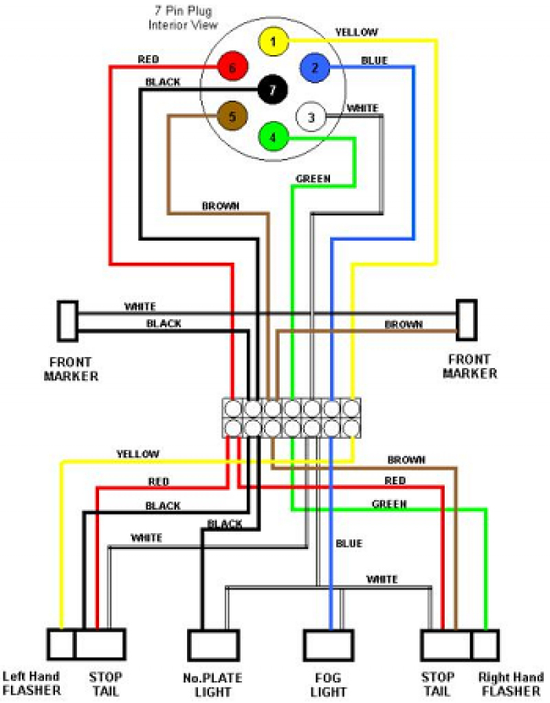 5 Wire Trailer Wiring Diagram Unique Magnificent Standard Pin With - Trailer Wiring Diagram 7 Pin 5 Wires Flat