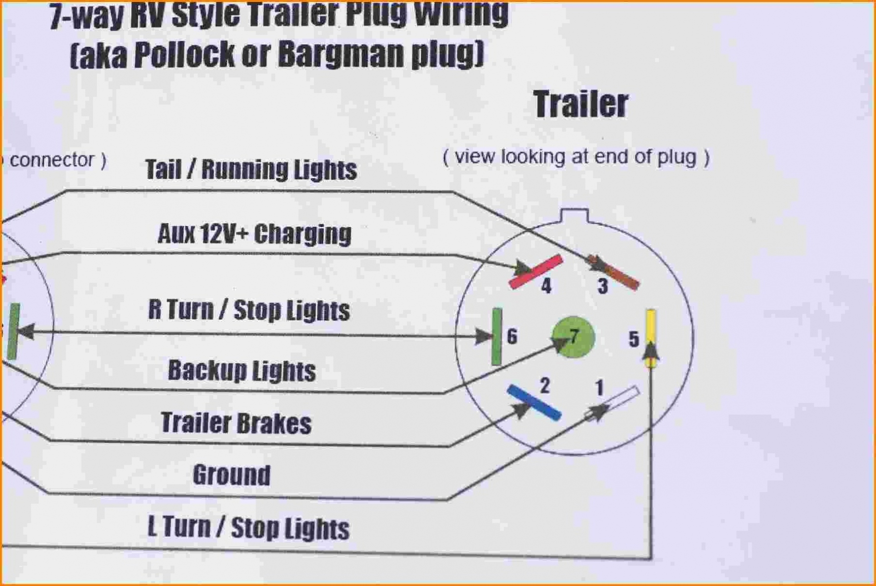 6 Round Trailer    Plug       Wiring       Diagram      Trailer    Wiring       Diagram