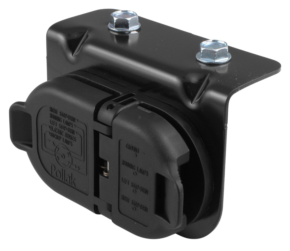 7- And 4-Pole Trailer Connector Socket W/ Mounting Bracket - Vehicle - Wiring Diagram For Trailer Plug