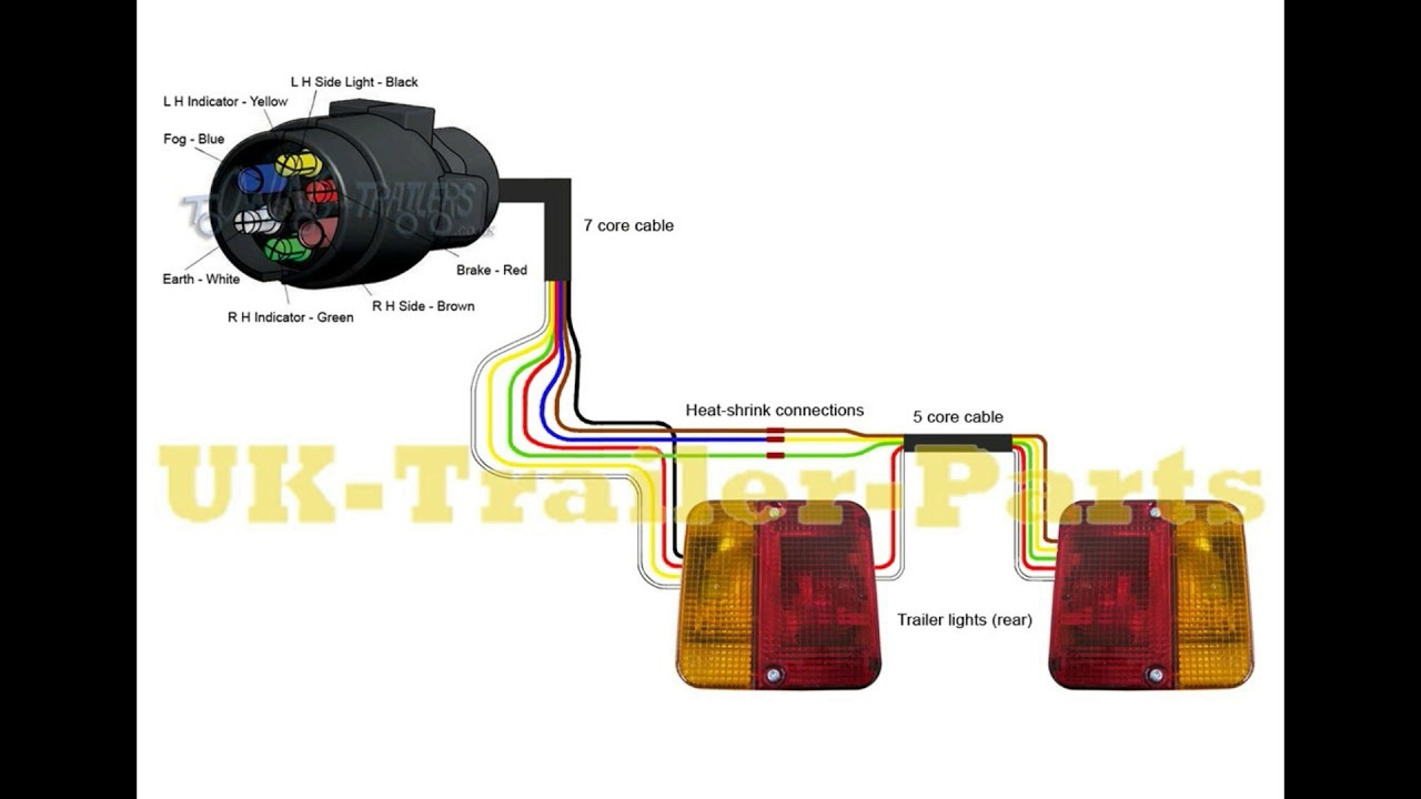 7 Pin 'n' Type Trailer Plug Wiring Diagram - Youtube - Trailer Lights Wiring Diagram 7 Pin