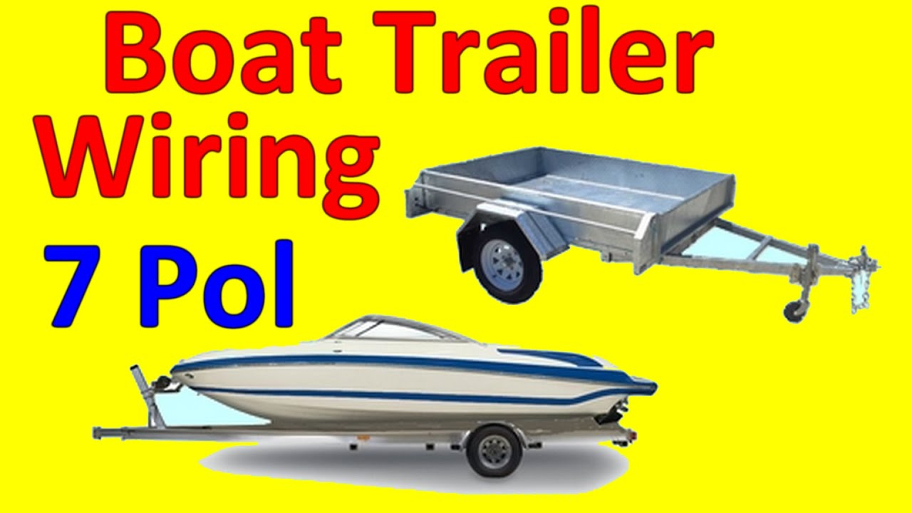7 Pin Trailer Boat Wiring Diagram - Youtube - Wiring Diagram For Boat Trailer