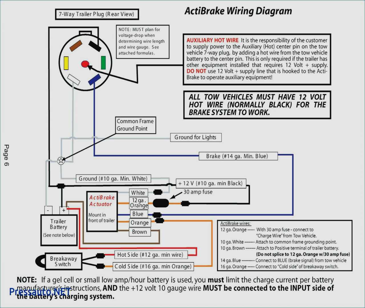 7 Round Wiring Diagram Break Away | Wiring Diagram - Trailer Brake Breakaway Wiring Diagram
