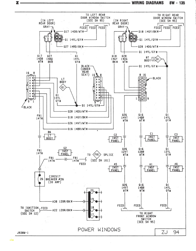 89 Jeep Cherokee Engine Diagram | Wiring Library - 1998 Jeep Grand Cherokee Trailer Wiring Diagram