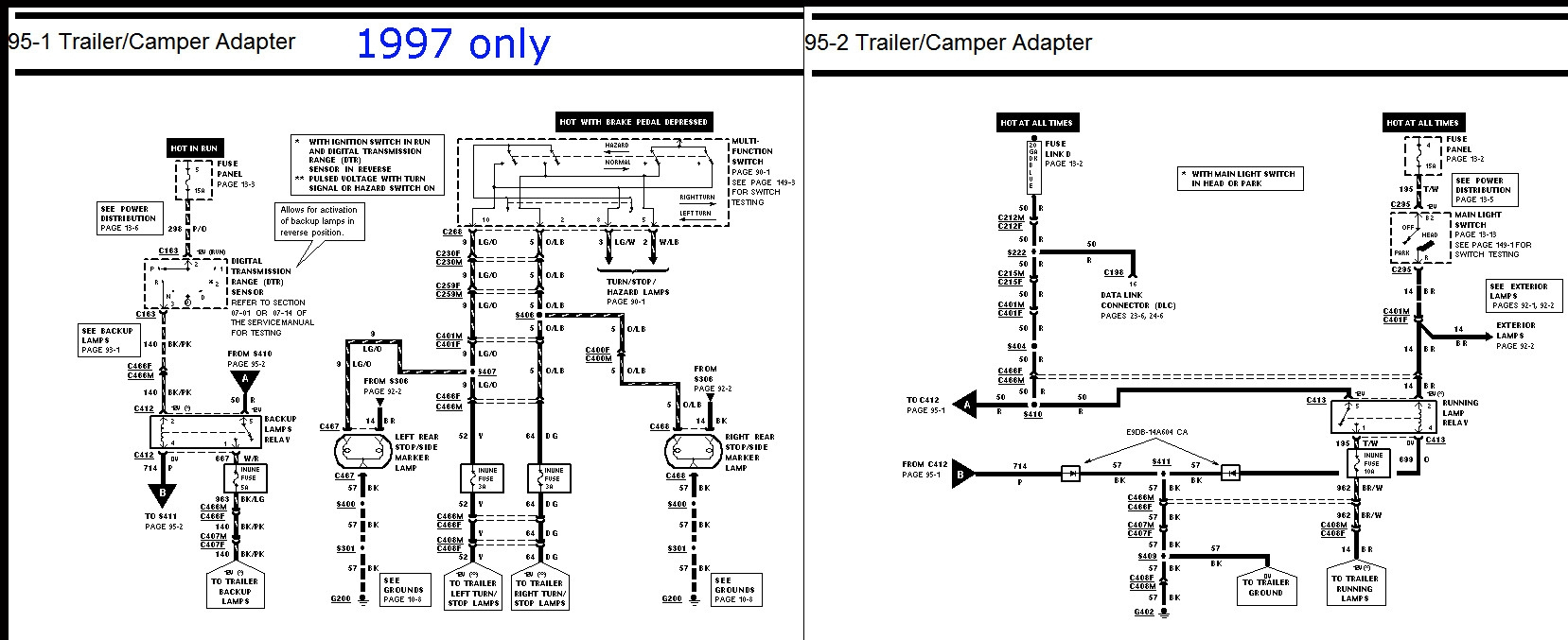 97 F150 Trailer Wiring Diagram | Free Wiring Diagram - Trailer Wiring Diagram Ford
