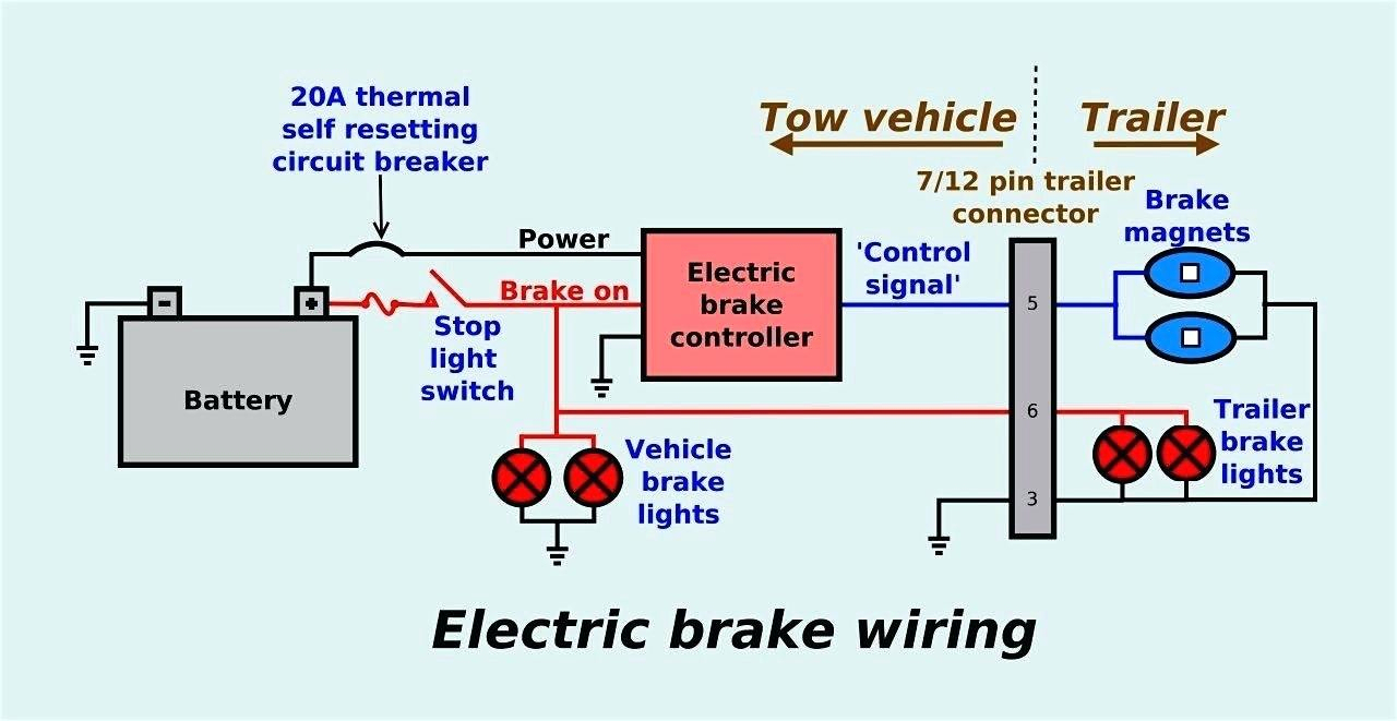 Aeeabfaebbcf Trailer Wiring Diagram With Electric Brakes - Wiring - Trailer Wiring Diagram Electric Brakes