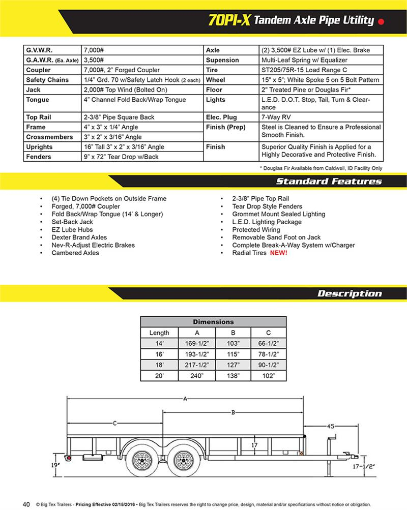 Big Tex 4 Way Trailer Wiring Diagram | Wiring Diagram - 4 Way Utility Trailer Wiring Diagram