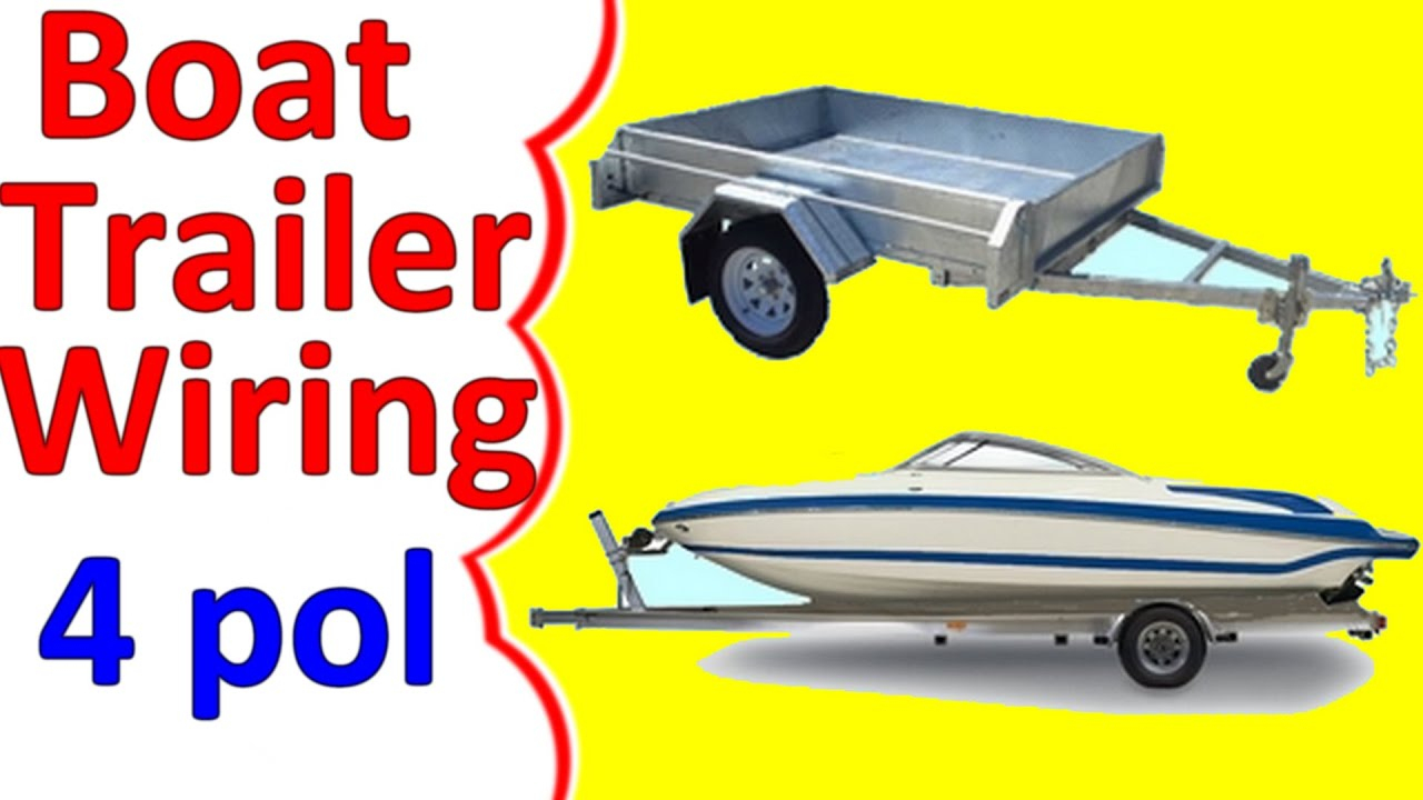 Boat Trailer Wiring Diagram 4 Pin - Youtube - Jet Ski Trailer Wiring Diagram