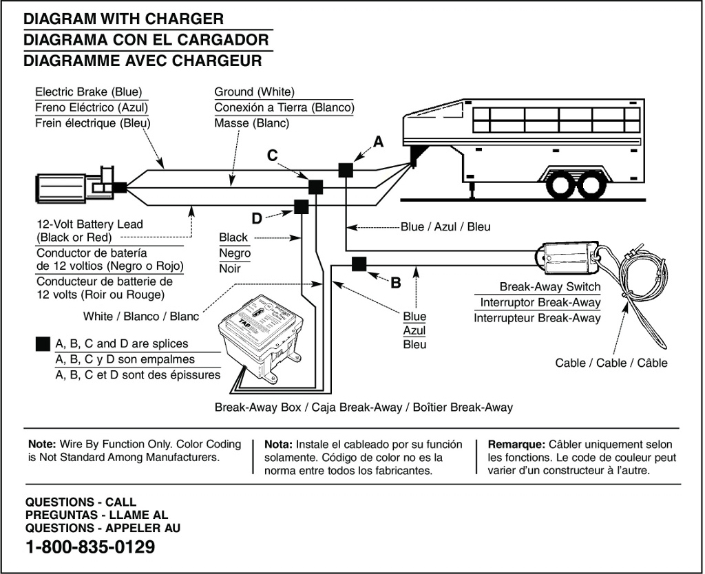 Break Away Hopkins Breakaway System Electric Brake Caravan Trailer - Breakaway Trailer Brake Wiring Diagram