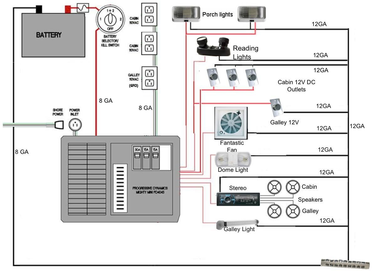 Camper Wiring - Google Search | Camping | Camper, Camper Trailers - Wiring Diagram For Travel Trailer