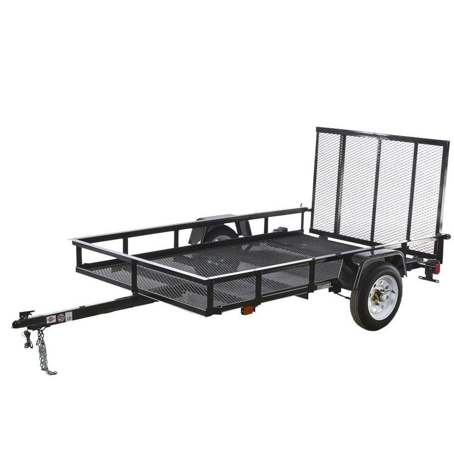 Carry-On Trailer 5-Ft X 8-Ft Wire Mesh Utility Trailer With Ramp - Carry On Trailer Wiring Diagram