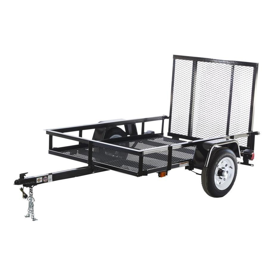 Carry-On Trailer 7-Ft X 4-Ft Wire Mesh Utility Trailer With Ramp - Carry On Trailer Wiring Diagram