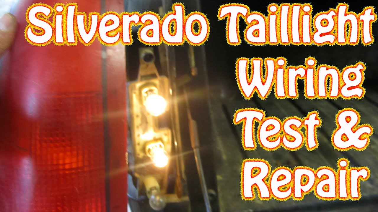 Diy Chevy Silverado Gmc Sierra Taillight Repair How To Test And - Trailer Light Wiring Diagram
