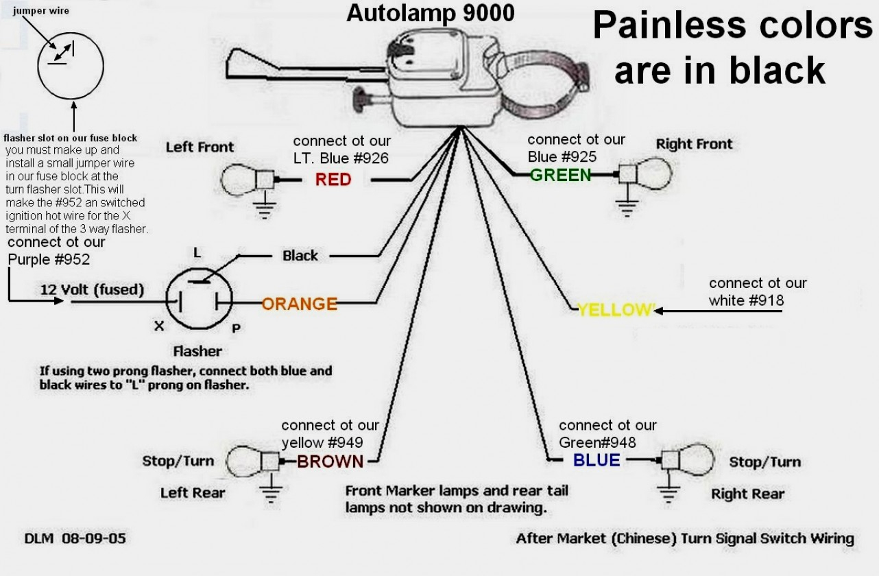 Everlasting Turn Signal Switch Wiring Diagram - Wiring Diagrams Thumbs - Typical Trailer Wiring Diagram