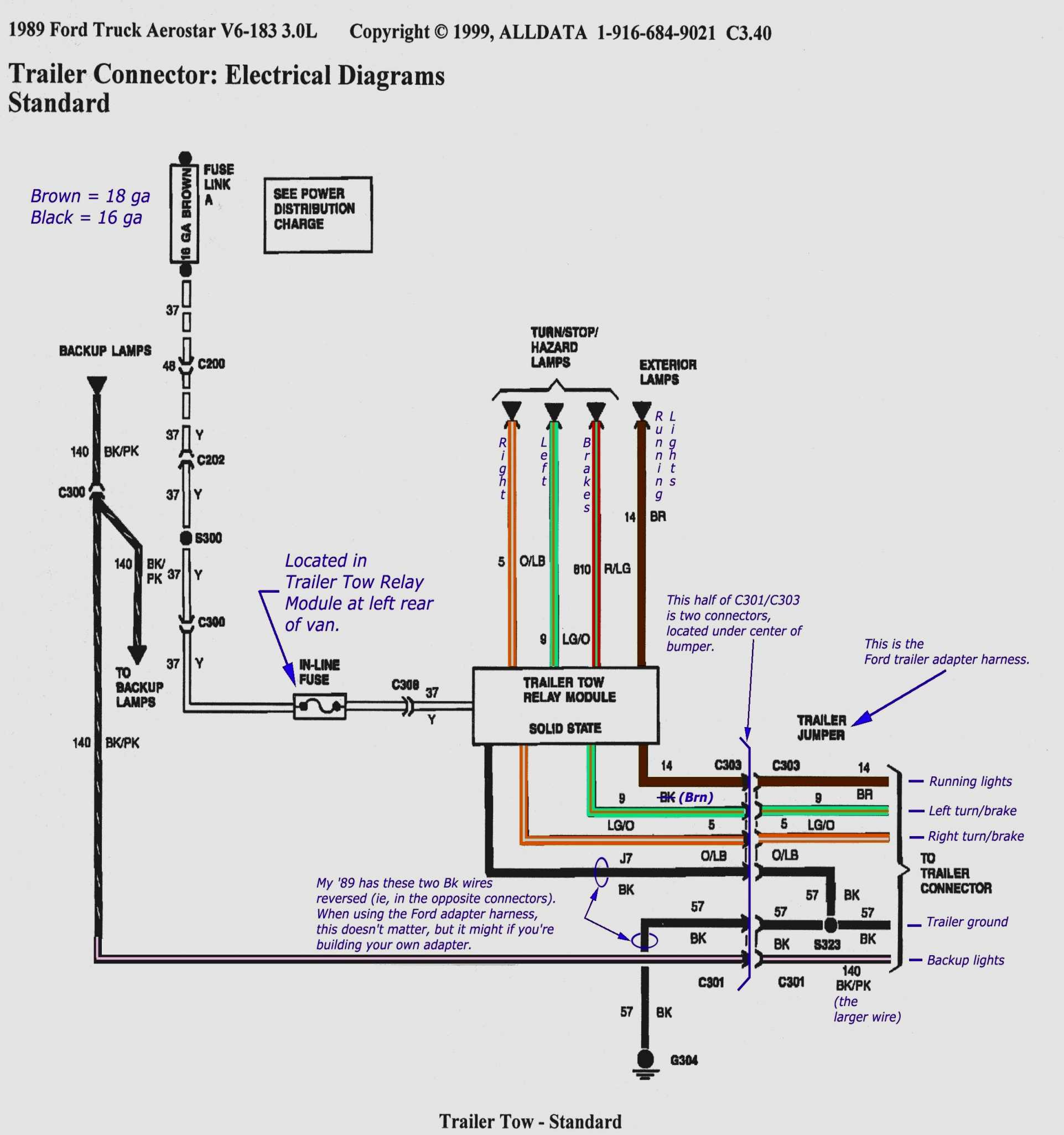Curt Trailer Plug Wiring Diagram