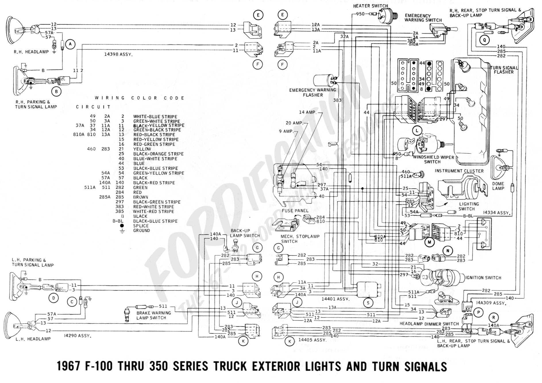Ford 1967 Truck Wiring Diagram | Wiring Diagram - Mustang Trailer Wiring Diagram