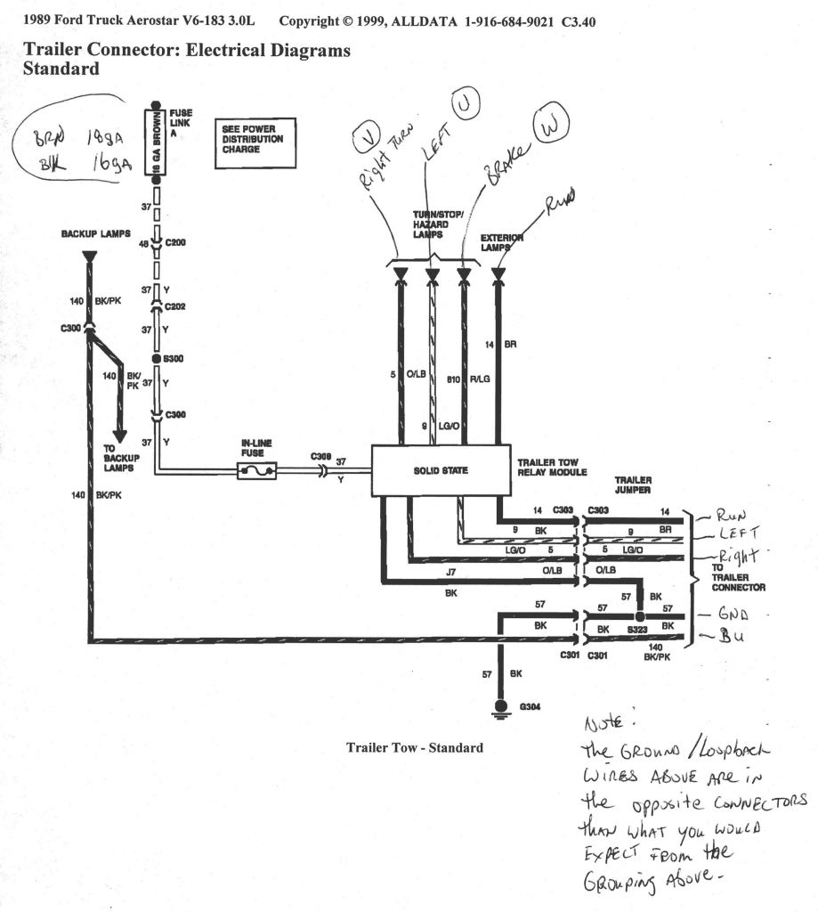Ford 7 Pin Trailer Wiring Diagram - Mikulskilawoffices - Trailer Wiring Diagram 7 Way Ford