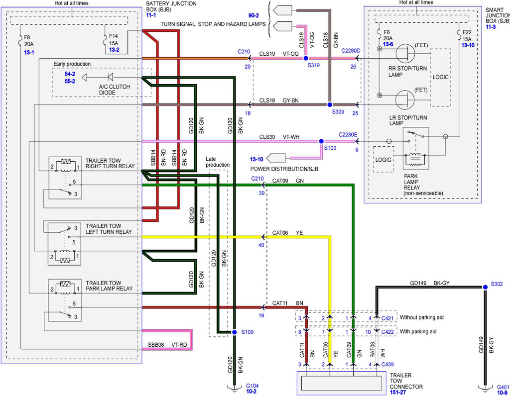 Ford Escape Tail Light Wiring Diagram - All Wiring Diagram Data - 06 F250 Trailer Wiring Diagram