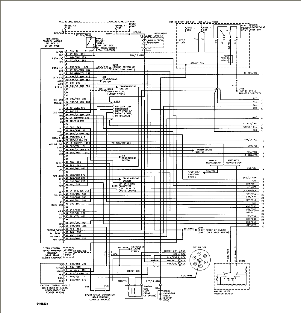 Ford F-150 Questions - Wiring On 94 Ford - Cargurus - Ford E250 Trailer Wiring Diagram