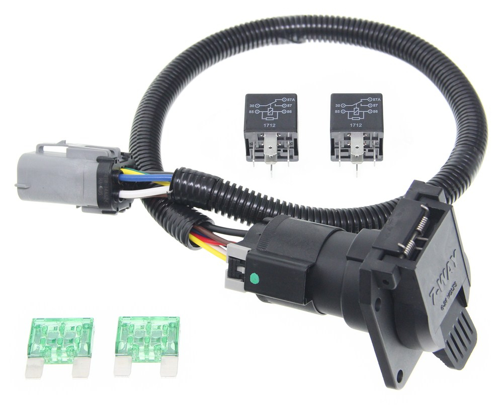 Ford Replacement Oem Tow Package Wiring Harness, 7-Way (Super Duty - Standard 7 Pin Trailer Plug Wiring Diagram