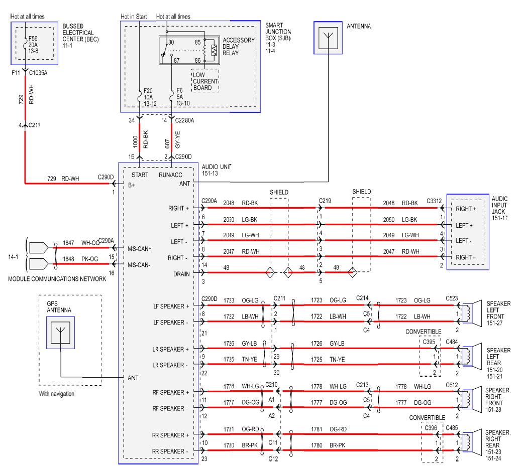 Ford Stereo Wiring - Wiring Diagram Description - 2014 Ford F150 Trailer Wiring Diagram