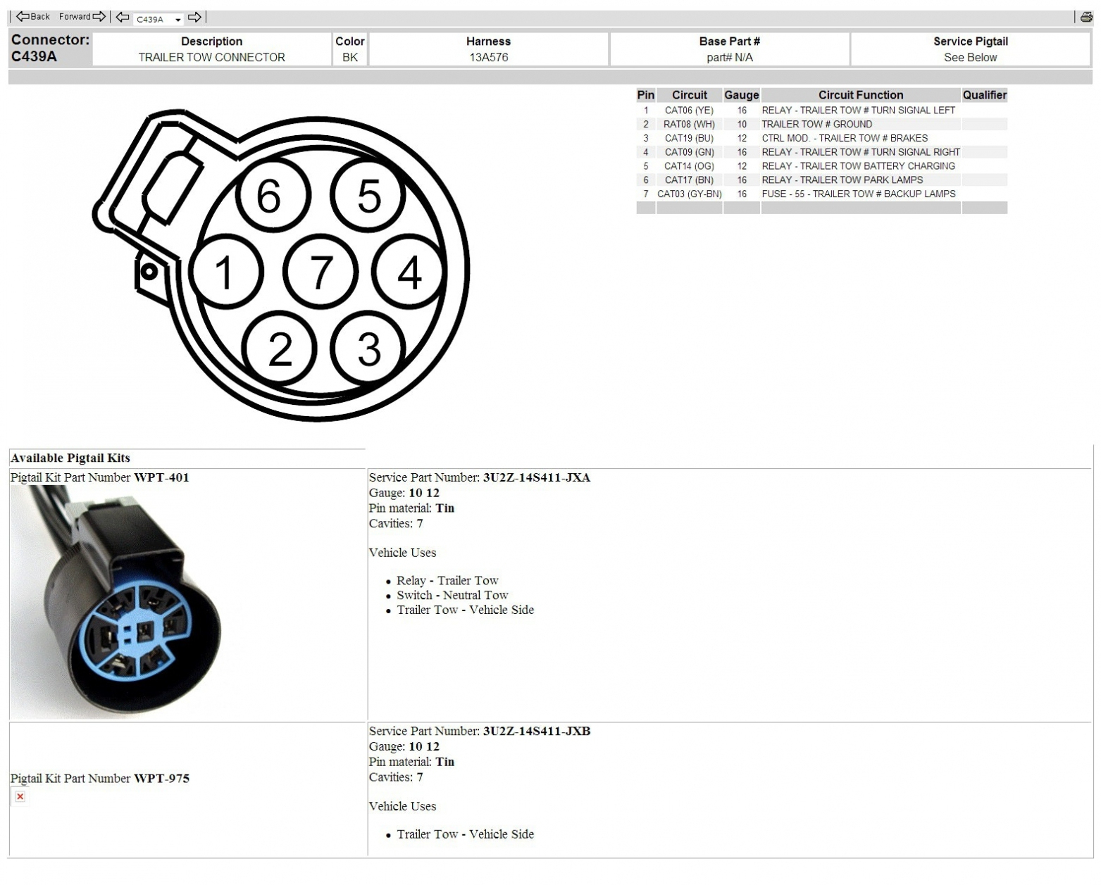 Ford Truck Trailer Harness | Wiring Library - Oasis Trailer Wiring Diagram