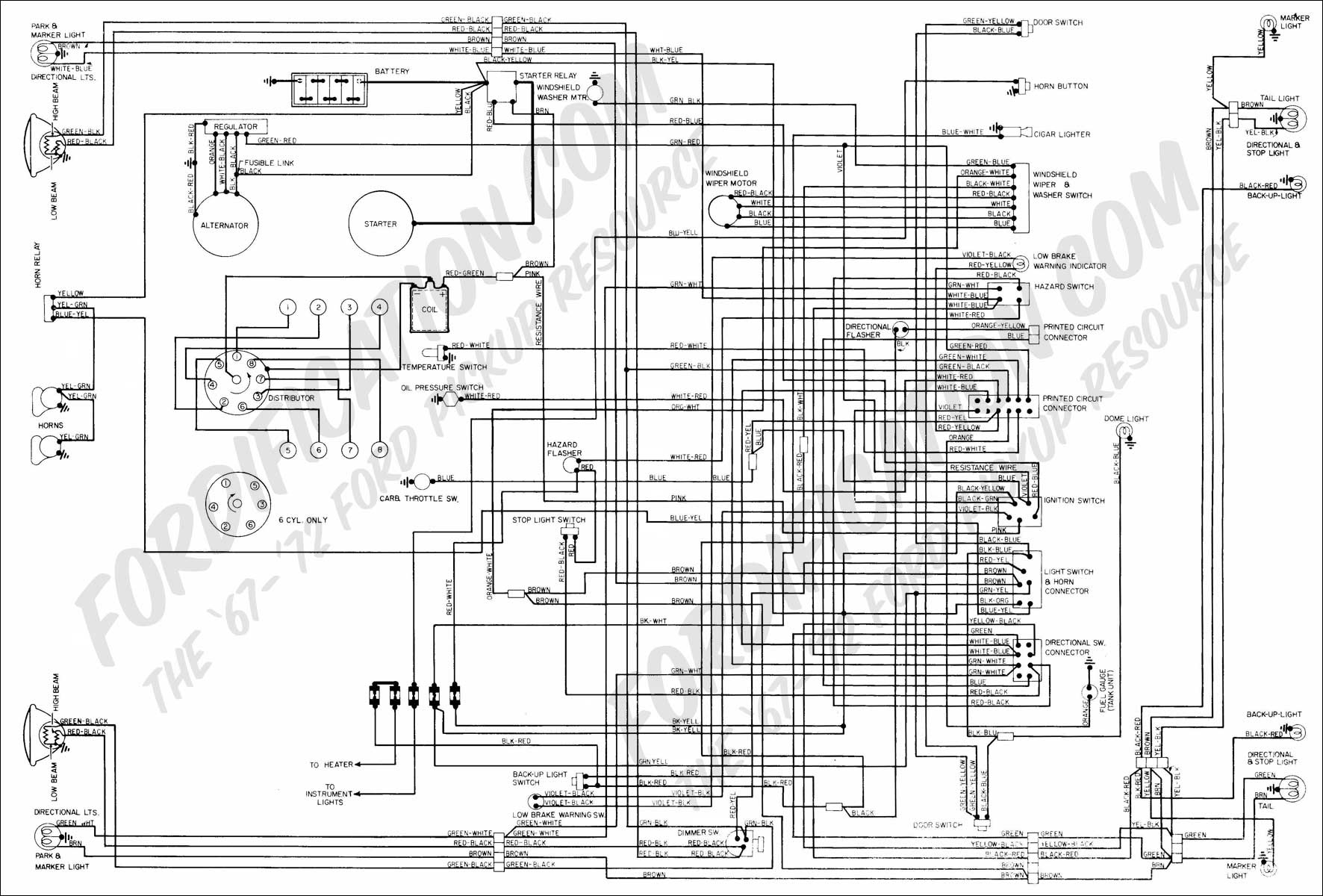 Ford Van Wire Diagram | Wiring Diagram - Ford F150 Trailer Wiring Harness Diagram