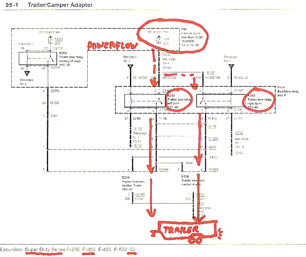 Get 2001 Ford F250 Trailer Wiring Diagram Sample - F250 Wiring Diagram Trailer