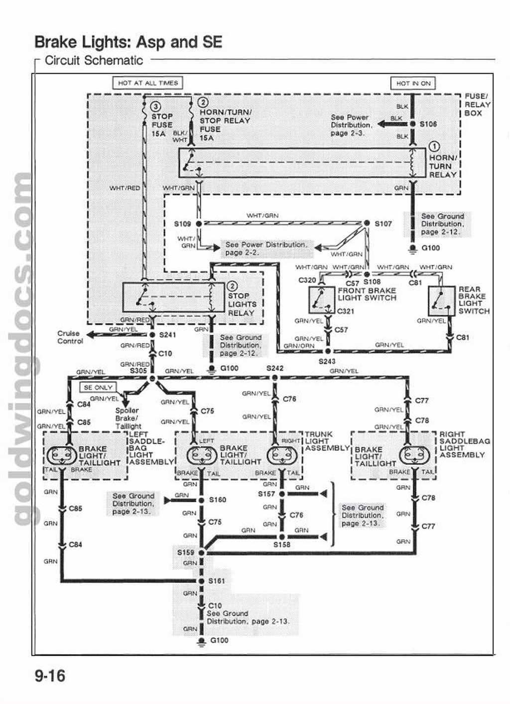 Gl1500 Wiring Diagram - Wiring Diagram Data - Gl1500 Trailer Wiring Diagram