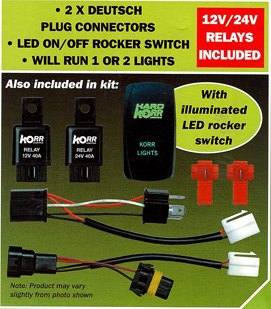 Hard Korr Lighting Plug & Play Dual Wiring Harness Kit 12V Or 24V - Led Trailer Lights Wiring Diagram Australia