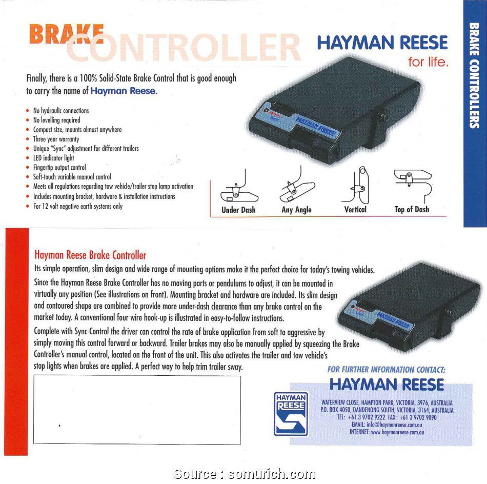 Hayman Reese Trailer Brake Controller Wiring Diagram | Manual E-Books - Hayman Reese Trailer Plug Wiring Diagram