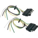 Hopkins Towing Solutions 4 Wire Flat Trailer Wiring Connector Set   4 Way Trailer Wiring Diagram