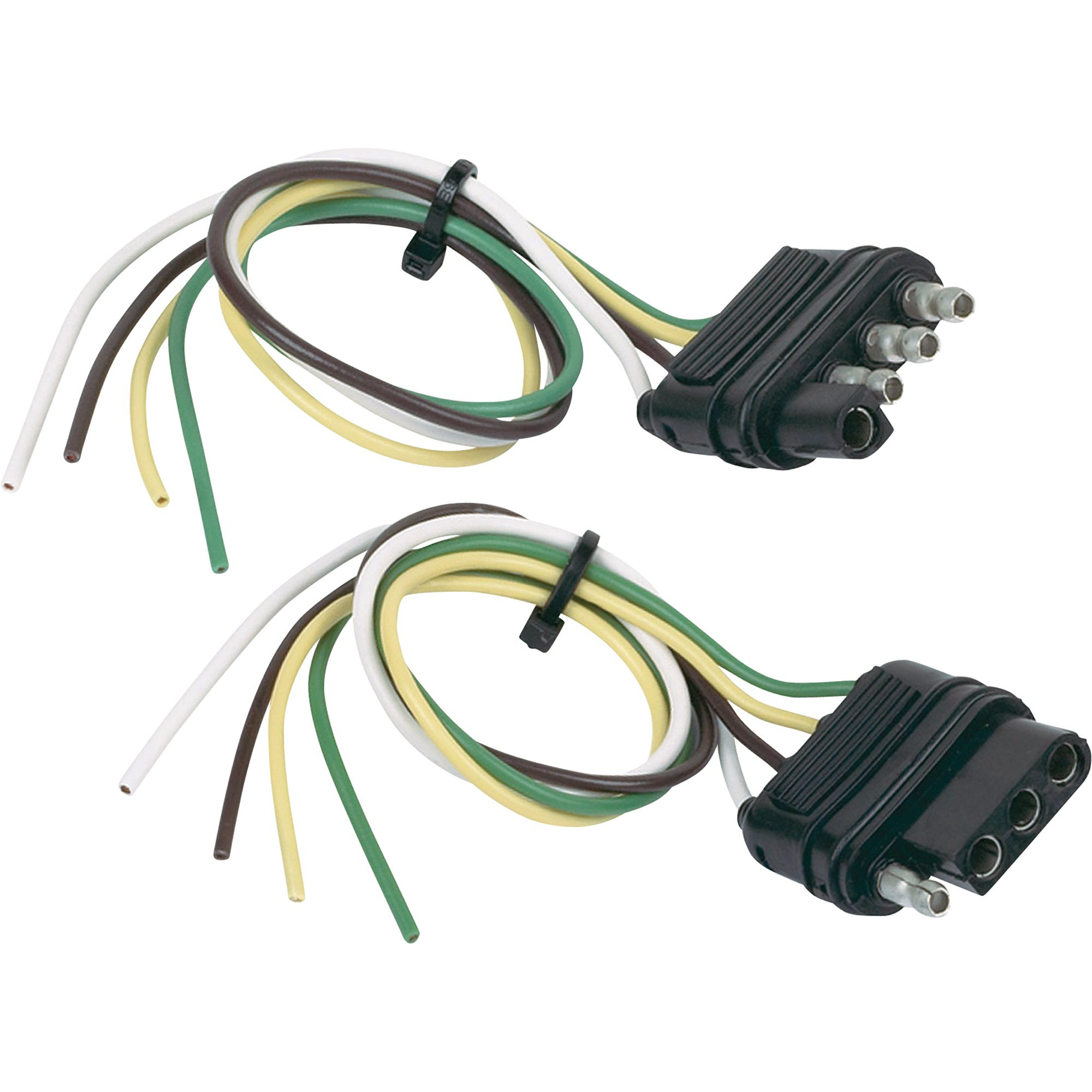 Hopkins Towing Solutions 4-Wire Flat Trailer Wiring Connector Set - Trailer Wiring Diagram 4 Wire