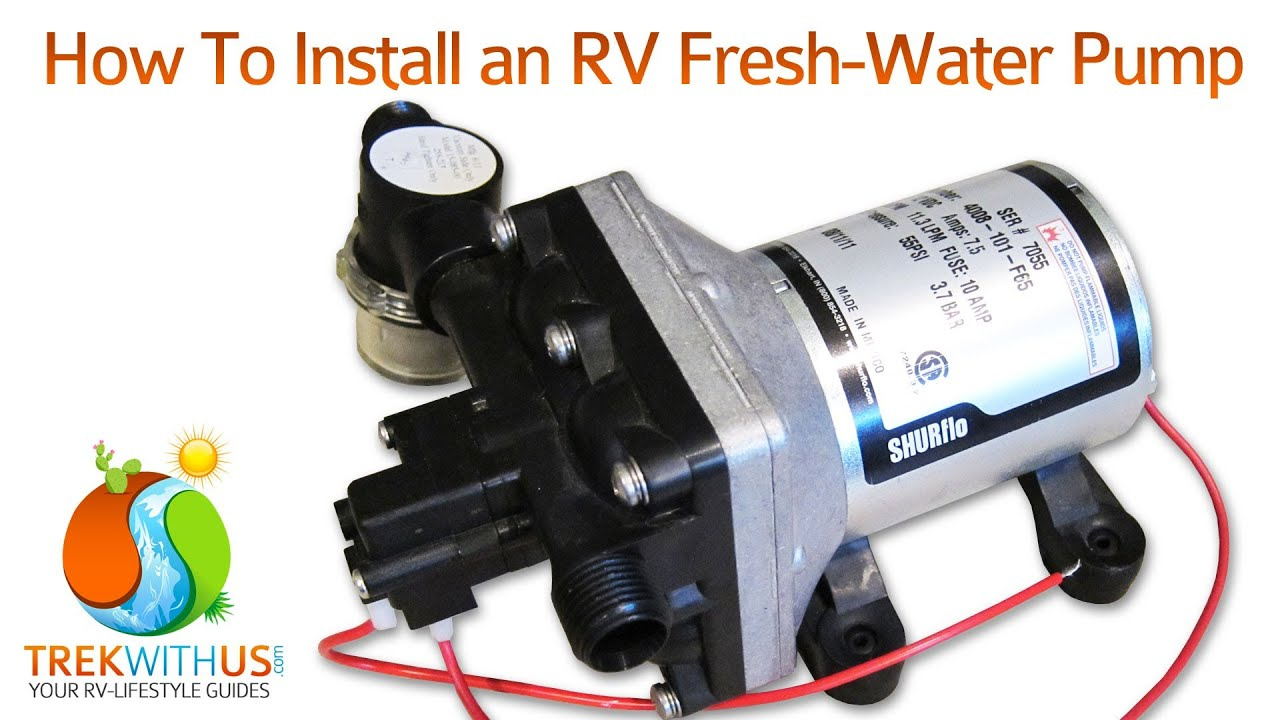 How To Install A Shurflo Fresh Water Pump - Rv Diy - Youtube - Camper Trailer Battery Wiring Diagram