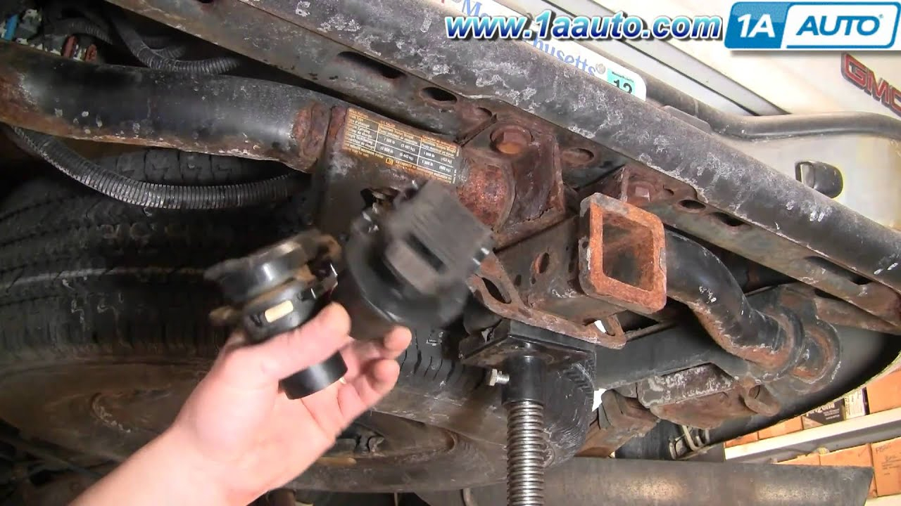 How To Install Replace 8-Pin Trailer Harness Connector Silverado - 8 Way Trailer Plug Wiring Diagram