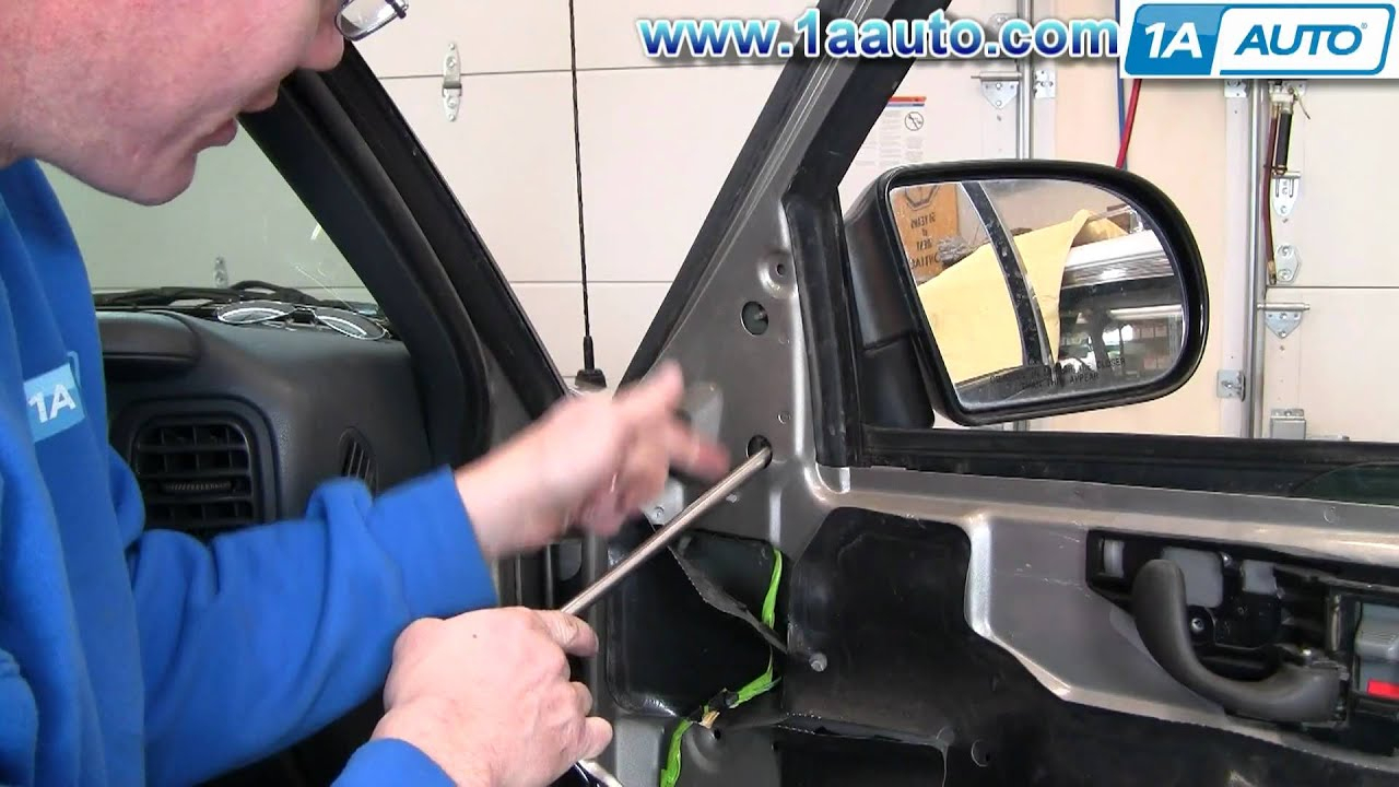 How To Replace Mirror 99-04 Chevy S10 Pickup - Youtube - 99 Blazer Trailer Wiring Diagram