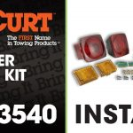 How To Rewire A Trailer With Universal Trailer Light Kit Using Curt   Trailer Light Kit Wiring Diagram