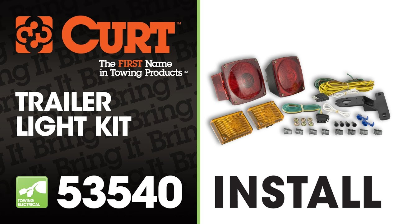 How To Rewire A Trailer With Universal Trailer Light Kit Using Curt - Trailer Light Kit Wiring Diagram