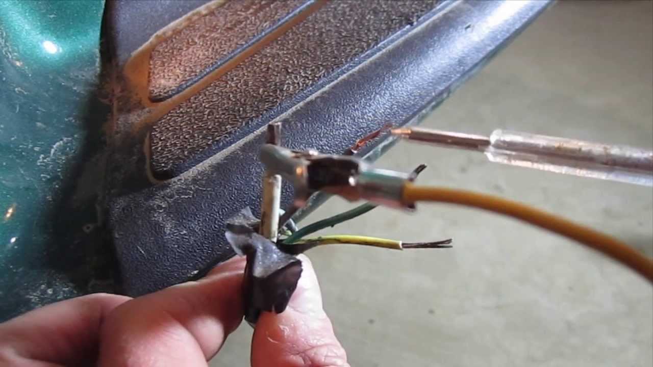 How To Test And Wire Trailer Lights Using A Hopkins 4 Flat Connector - Trailer Wiring Diagram 4 Wire Flat