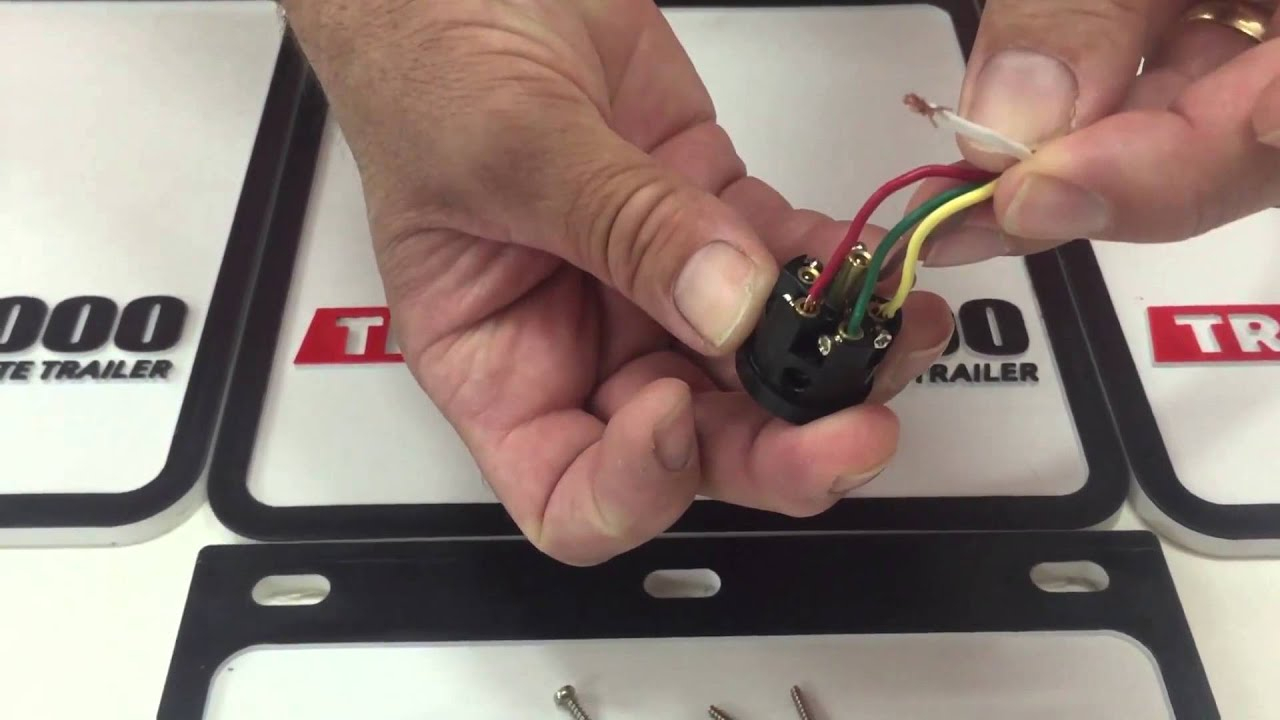 How To Wire A 6 Pin Round Trailer Plug - Youtube - 6 Pin Horse Trailer Wiring Diagram